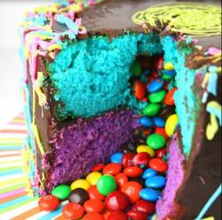 Colorful m&m birthday cake images.JPG