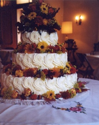 wedding cake galleries with full of flowers