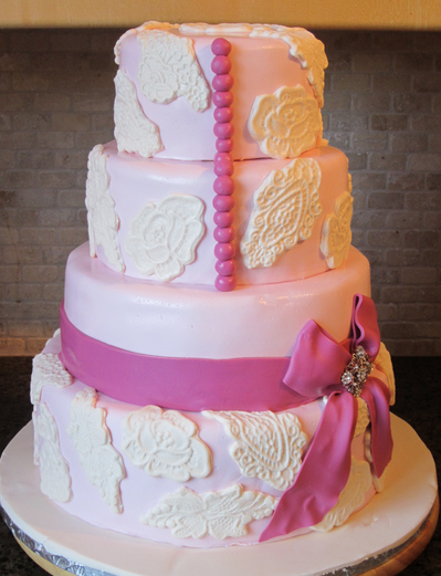 Beautiful Pink Cake Images : Beautiful pink cake decoration perfect for 2015 wedding.PNG