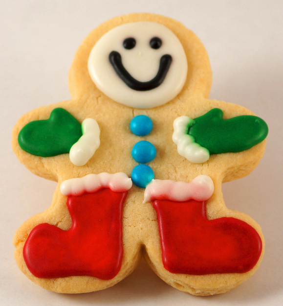 Cream color kids gingerbread man cookies for Christmas.PNG