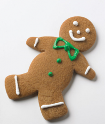 Ginger bread man with green bow.PNG