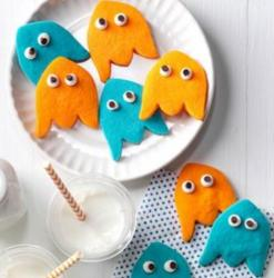 Colorful Ghost Shortbread Cookies picture.JPG