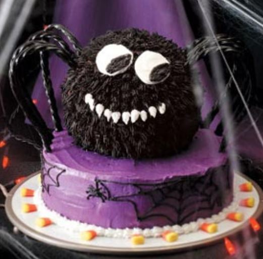 Cool Halloween Cakes Images Of Spooky Spider Cake 2015 Jpg