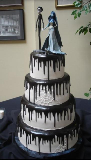 Halloween Corpse Bride Wedding Cake.JPG