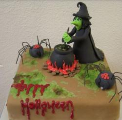 Halloween Witches Cake with spiders.JPG
