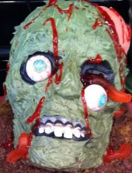 Zombie skull cake ideas photo.JPG