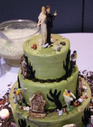 Zombie Wedding Cake with halloween theme.JPG