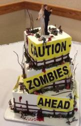 Zombie Wedding Halloween Cake picture.JPG