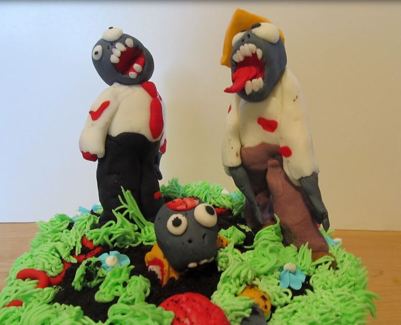 Zombie Birthday Cake very colorful.JPG
