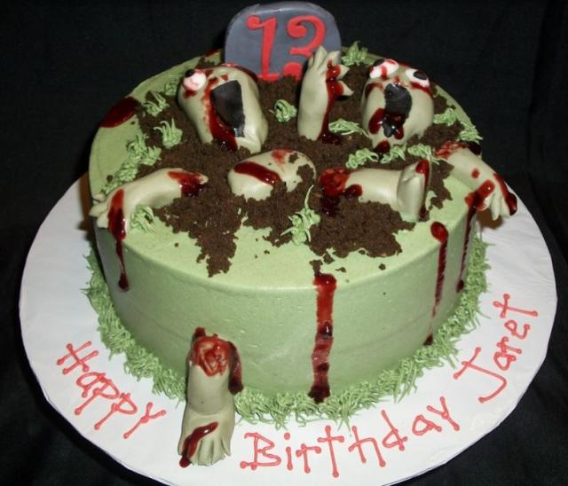 Incredible Zombie Birthday Cakes For Kids Jpg Hi Res 720P Hd Birthday Cards Printable Opercafe Filternl