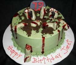 Zombie birthday cakes for kids.JPG