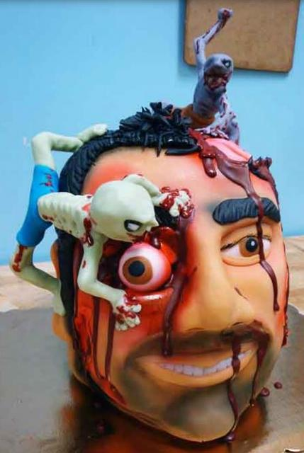 Scary Halloween Zombie Birthday Cake Images Jpg