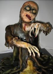 Scary halloween zombie cake with female zombie cake photo.JPG