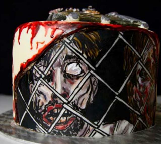 Walking Dead Zombie Birthday Cake Pictureg