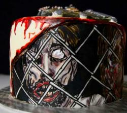 Walking Dead Zombie Birthday Cake picture.JPG
