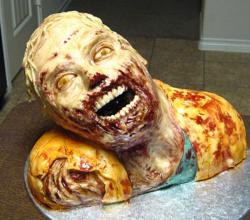 Walking Dead Zombie Cake picture.JPG