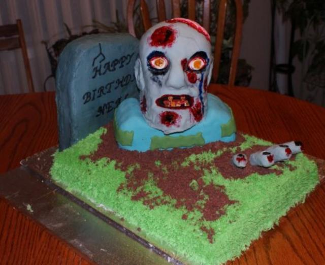 Zombie Birthday Cake Ideas Photog