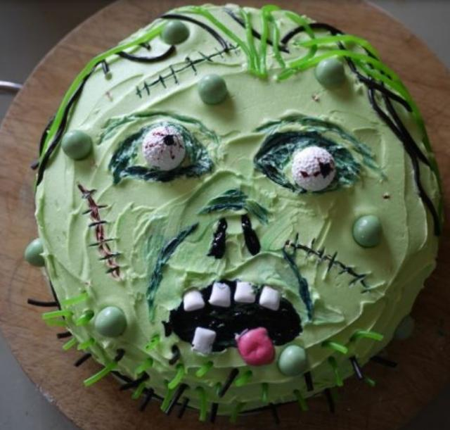 Homemade Zombie Birthday Cake Picturesg