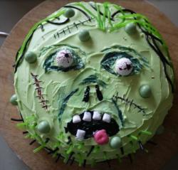 Homemade Zombie Birthday Cake pictures.JPG