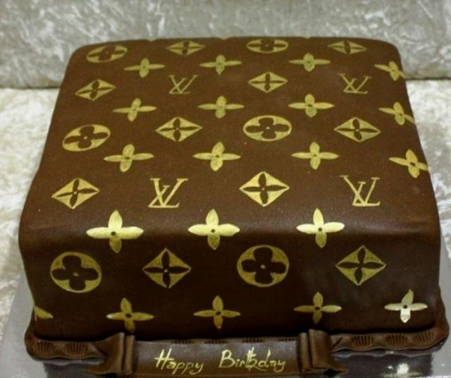 Square Louis Vuitton Birthday Cake Picture Jpg