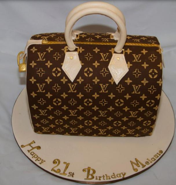 21st Lv Speedy Handbag Birthday Cake Picture Jpg