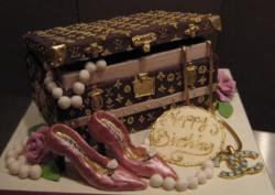 Chanel and Louis Vuitton cakes photo.JPG