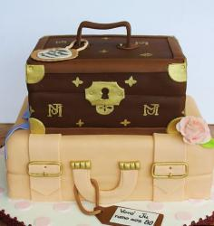 Louis Vuitton suitecase birthday cake pictures.JPG