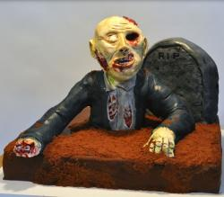 Chocolate zombie halloween cake picture.JPG