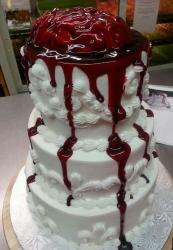 2015 zombie wedding cake with bleeding brain.JPG