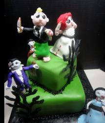 Cute zombie wedding cake picture.JPG