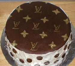 Homemade Louis Vuitton cake stencil and that is how to make a Louis Vuitton cake.JPG