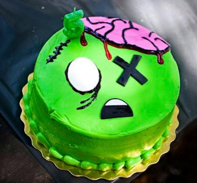 Kids Zombie Halloween Cake 2015 Jpg