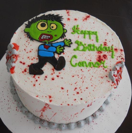 2015 Kids Halloween Zombie Birthday Cake Jpg