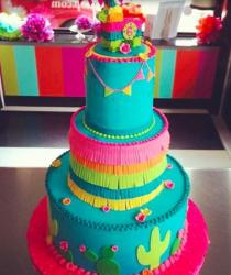 Colorful pinata cake in three tiers.JPG