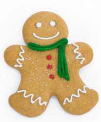 Happy gingerbread man with green scarf.PNG