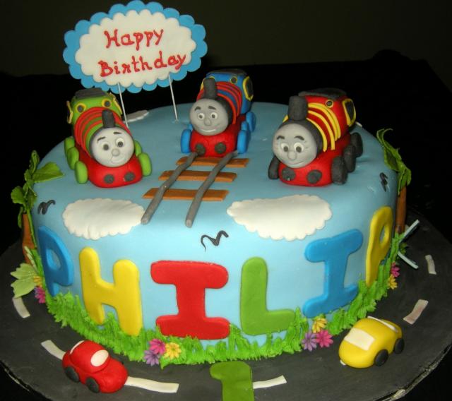 Thomas The Train Kids Birthday Cake Photo