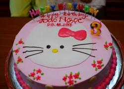Cute Pink Hello Kitty Cake for 3 year-old Girl.JPG