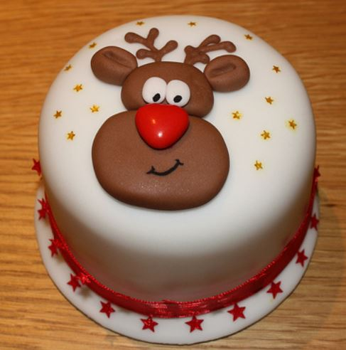 Reindeer Christmas Cake Decorations