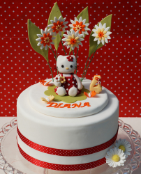 Red and white Hello kitty with flowers and hellow kitty figure.PNG