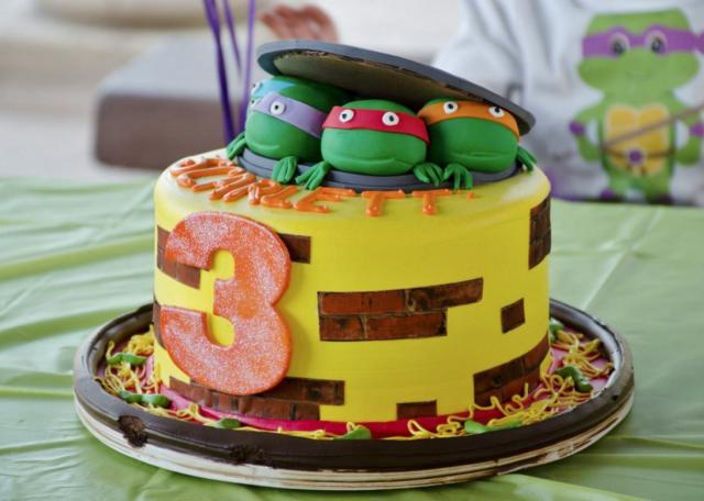 Fabulous Teenage Mutant Ninja Turtles 3Rd Birthday Cake Jpg Hi Res 720P Hd Funny Birthday Cards Online Elaedamsfinfo