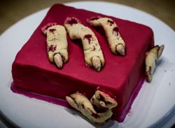 Creepy Fingers Halloween Cake in Red.JPG
