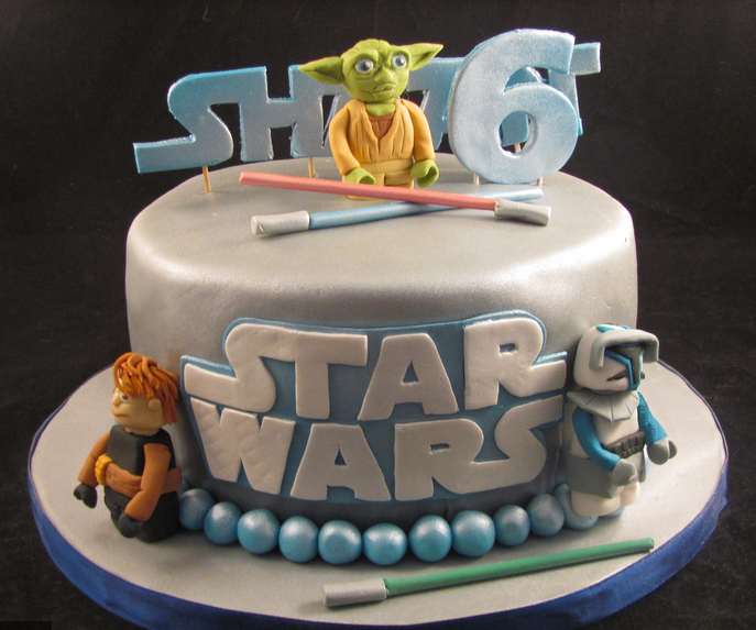 Professional star wars cake with yoda cake topper.PNG