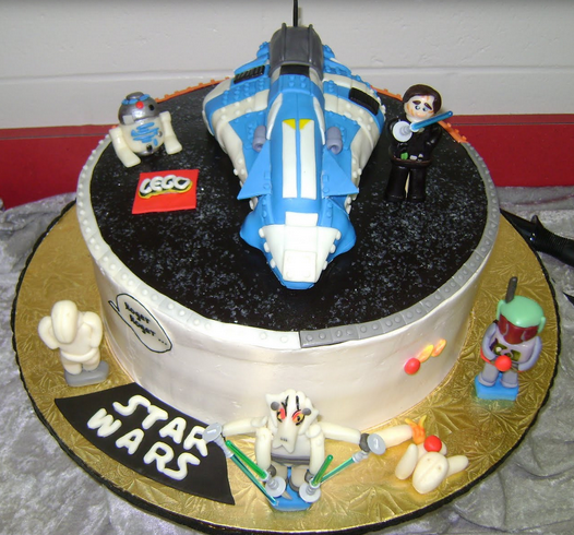 Excellent Cool Lego Star Wars Birthday Cakes Ideas With Cool Lego Star Wars Personalised Birthday Cards Bromeletsinfo