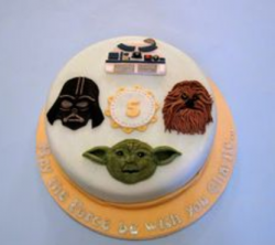 Cool yet simple Star Wars birthday cake photos.PNG