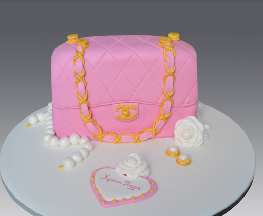 Pink Chanel Birthday Cake Photo Png