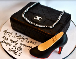chanel purse cake and Chanel shoe cake picture.PNG