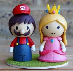 Super Mario and Princess Peach Wedding Cake Toppers.JPG