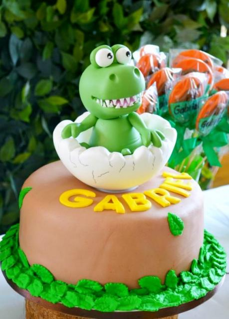 Baby Dinosaur Out Of Egg Shell Chocolate Birthday Cake Jpg