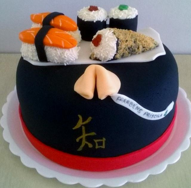 Phenomenal Sushi Nigiri Rolls And Fortune Cookie Asian Cuisinetheme Birthday Funny Birthday Cards Online Elaedamsfinfo