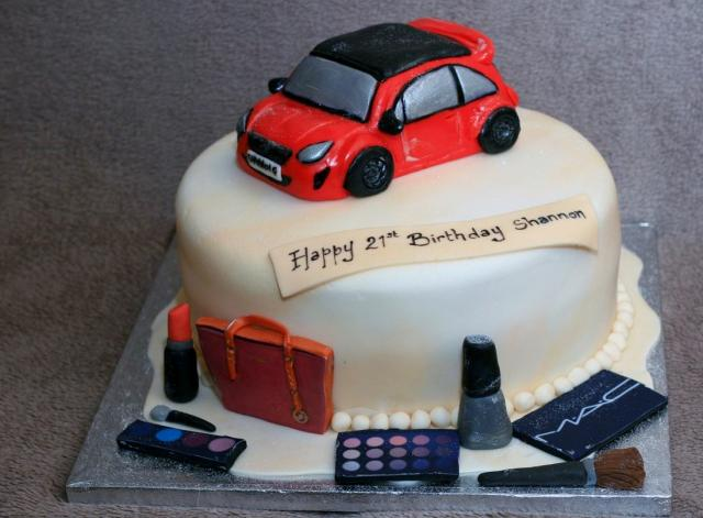 Stupendous Mac Cosmetics Car Birthday Cake For Women Jpg Hi Res 720P Hd Personalised Birthday Cards Sponlily Jamesorg